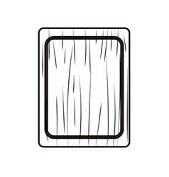 Figure cutting board practical to prepare fresh vector