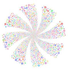 Globe fireworks swirl flower vector