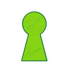 keyhole sign lemon scribble vector image vector image