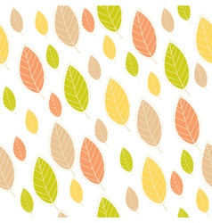 ornamental seamless pattern with leaves vector image
