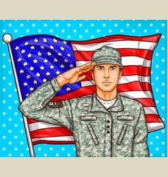 pop art for a memorial day - a vector image