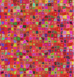 Red colorful irregular rectangle mosaic background vector image vector image