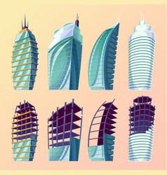 set cartoon of an abstract vector image vector image