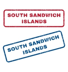 South sandwich islands rubber stamps vector