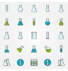 Test-tube icons set vector
