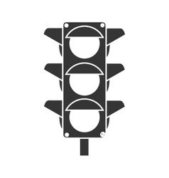 traffic lights semaphore icon vector image