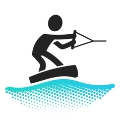 Wake boarding icon vector image vector image