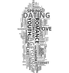 Young love text word cloud concept vector