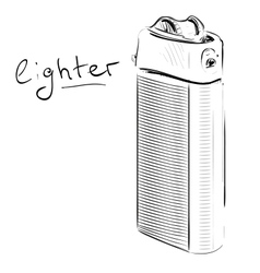 Lighter cartoon sketch vector