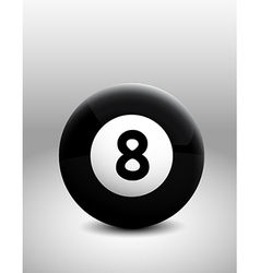 Number 8 ball vector