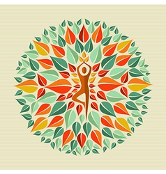 India yoga mandala vector