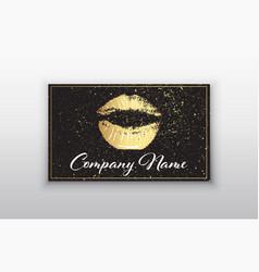 makeup artist business card business cards vector image