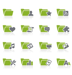 Folders Icons vector image