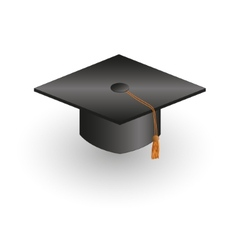 Square academic cap vector