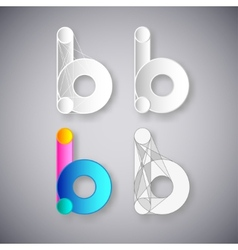 Abstract combination of letter b vector