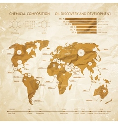 Oil infographics vector