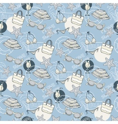 Summer blue pattern vector