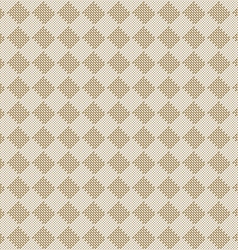 Diagonal square beige seamless fabric texture vector