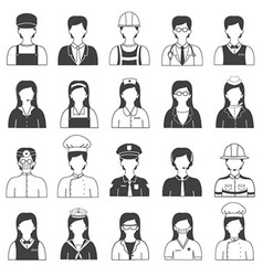 Career People and Occupation Icons Set vector image