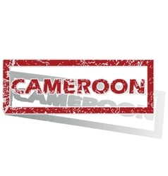 Cameroon outlined stamp vector
