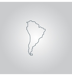 Black map of south america vector