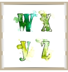 Wector watercolor hand-draw colorful alphabet vector