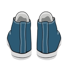 Cartoon blue sneakers vector