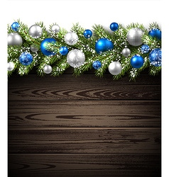 Card with fir branch vector