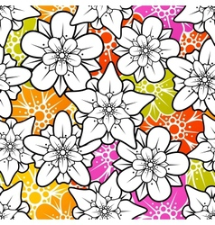 flower seamless background vector image