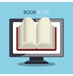 Book online and elearning vector