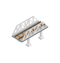 Rail bridge isometric 3d icon vector