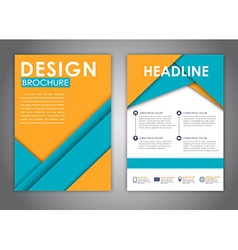 Brochures in the style of the material design vector