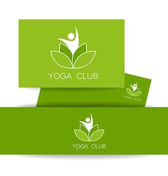 Yoga lotos logo template vector