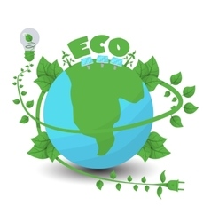 Ecology flat composition vector