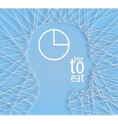 Conceptual idea human head threads vector