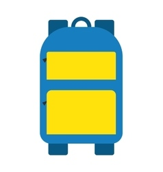 Blue school bag icon vector image