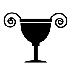 Ancient vase icon simple style vector