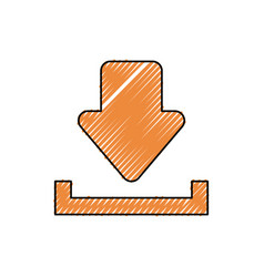 Arrow sign doodle vector