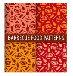 barbecue and grilled meat patterns vector image vector image