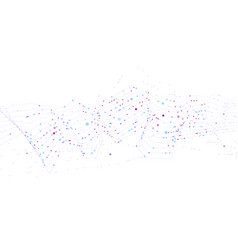 big data stream futuristic infographic vector image