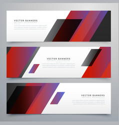 Business style banners set vector