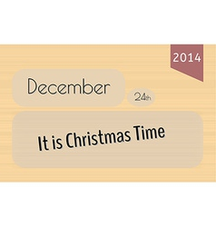 Card merry christmas vector