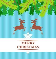 Christmas deers vector