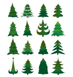 Christmas pine trees vector