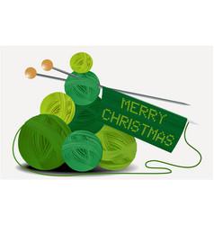 christmas wool tree vector image vector image