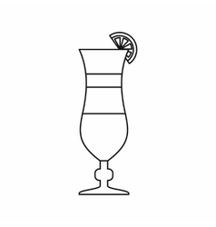Cocktail icon outline style vector image