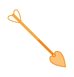 cupid arrow symbol vector image