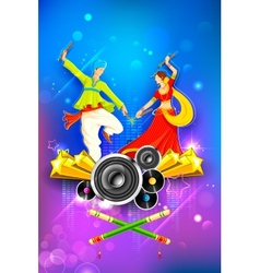 Dandiya night poster vector