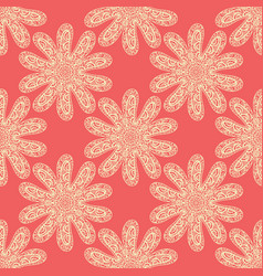 Doodle print seamless fabric tile vector