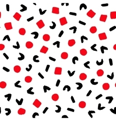 Geometric Pattern Painted Red Black White vector image vector image